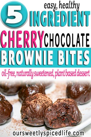 5 ingredient cherry chocolate brownie bites easy healthy snack or dessert