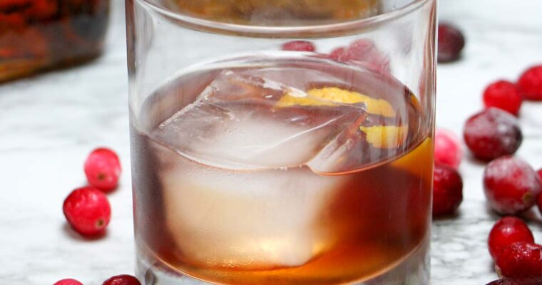 Crown Vanilla Whiskey Cocktail with Cranberry