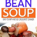 spoon of crockpot ham and bean soup