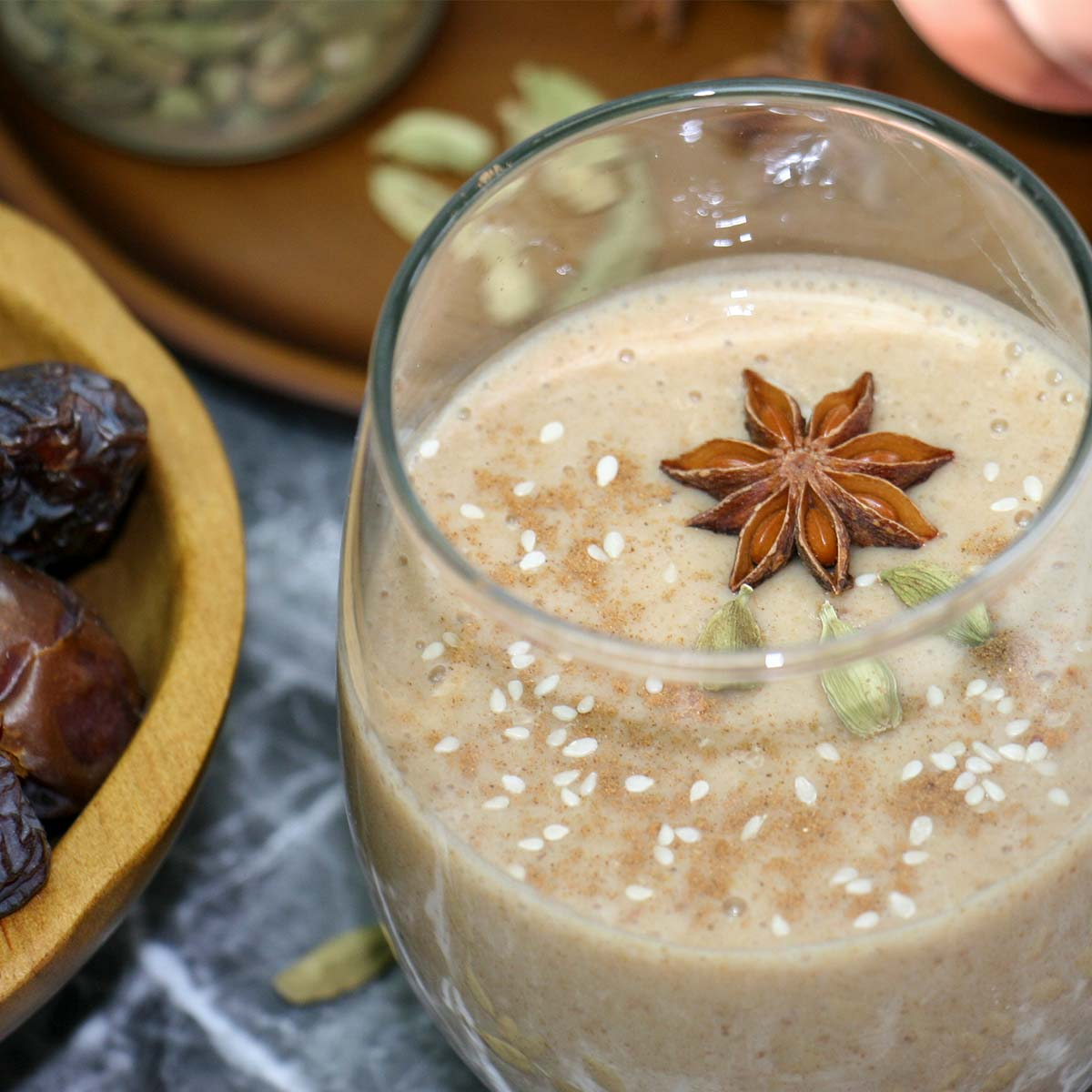 Spiced Date Breakfast Smoothie