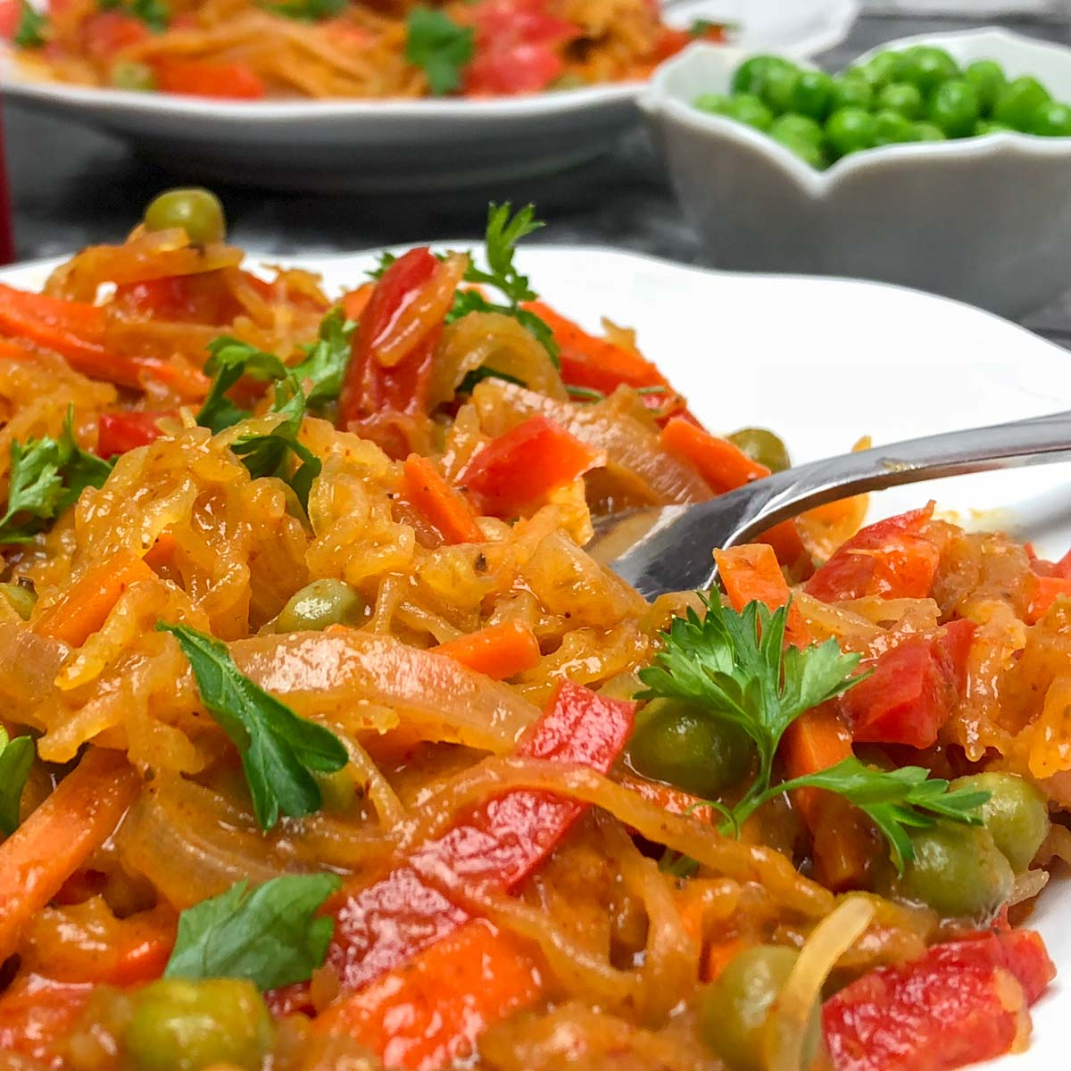 Spaghetti Squash Vegetable Curry