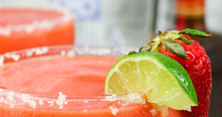 Frozen Strawberry Mango Margarita