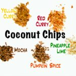 five flavors of healthy baked coconut chips