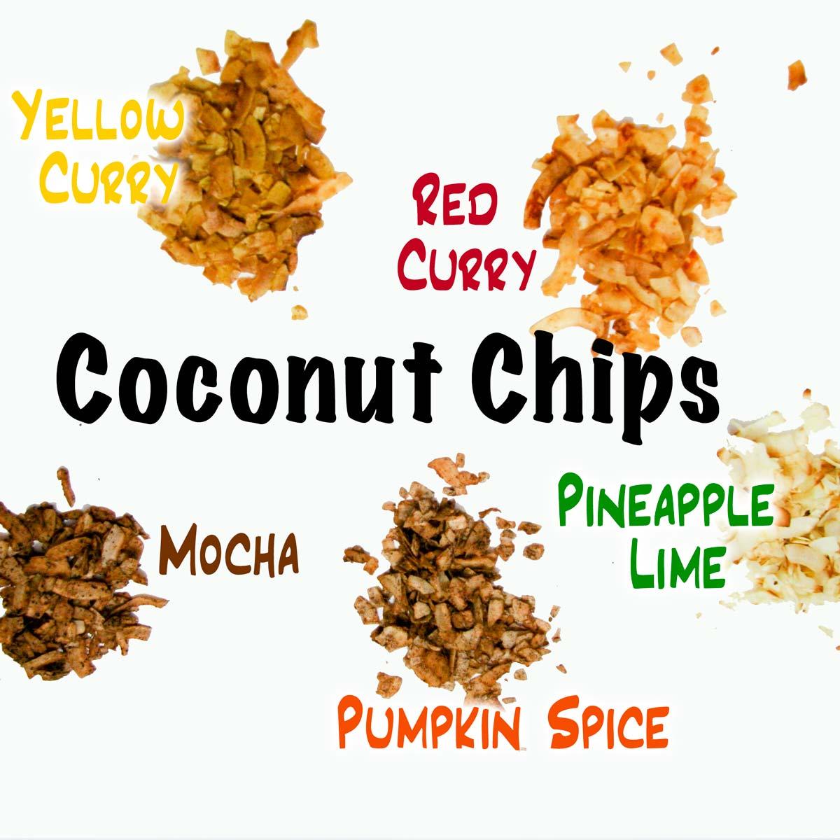 Coconut Chips 5 Ways: Quick, Easy, Healthy Snacks