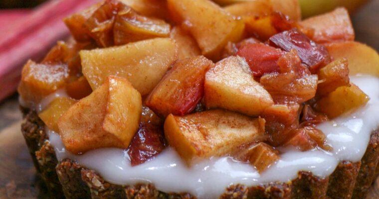 Plant Based Breakfast Rhubarb Tart