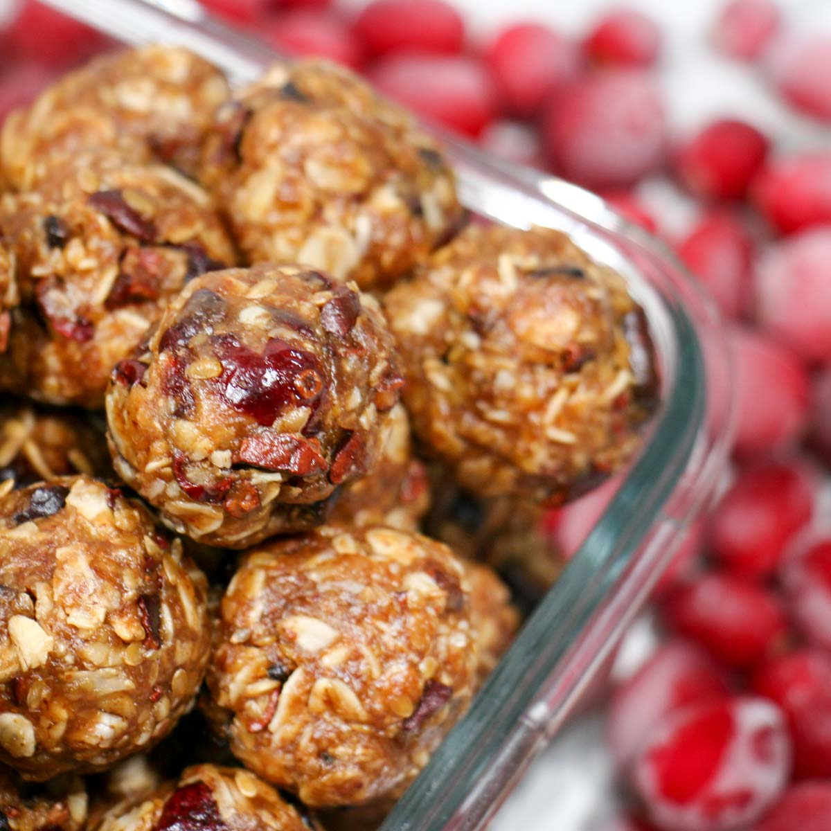 Cranberry Oatmeal Cookie Bites with Cacao: A Healthy, No Bake Treat