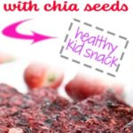 strawberry cherry apple chia bars - dehydrator raw food snack on white plate