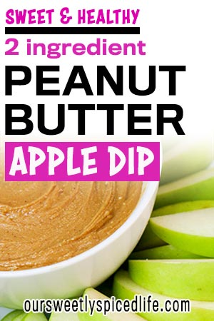 peanut butter honey apple dip sweet healthy 2 ingredient snack