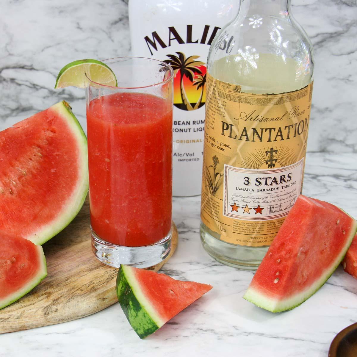 Boozy Watermelon Slush