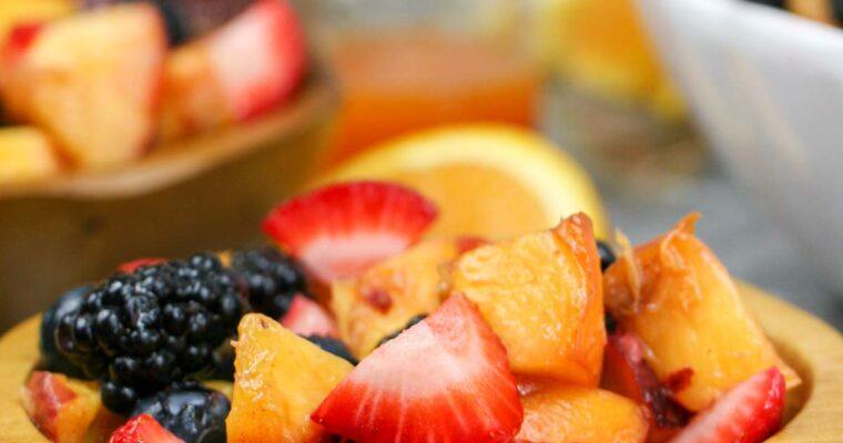 Fruit Salad with Honey Orange Sriracha Dressing